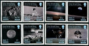 HERRICKSTAMP NEW ISSUES ISLE OF MAN First Manned Moon Landing