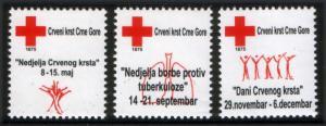 Montenegro 2012 Tuberculosis TBC Red Cross Croix Rouge Rotes Kreuz Cruz Roja MNH