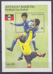 1989 Antigua and Barbuda 1256/B160 1990 FIFA World Cup in Italy