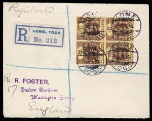 Togo Scott 84 Gibbons 51 Block of Stamps