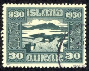 Iceland Sc# 159 Used (a) 1930 30a Definitives