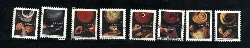 Canada #1673-80    -4  used VF 1999  PD