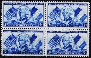 U.S.A. 1952 3c(Block of 4) S.G.1007 Unmounted Mint