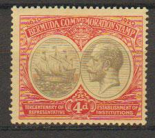 Bermuda SG 63  Mint  Hinged - good centering