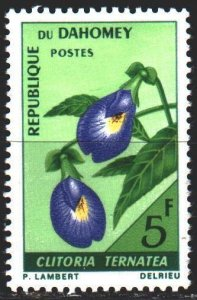 Benin. 1967. 300 from the series. Cletoria, flowers used in cooking as a food...