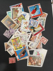 World Stamps - Includes Countries from T-Z - Approximately 50 Stamps