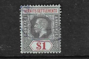 MALAYA-STRAITS  1912  $1  KGV  FU  SG210