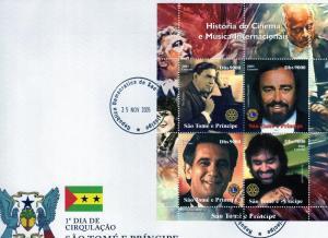 FDC Rotary/Lions Pavaroti/Schipa/Domingo/Bocelli  St .Thomas
