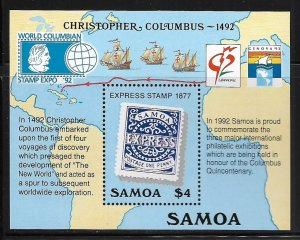 SAMOA, 810, MNH, SS CHRISTOPHER COLUMBUS