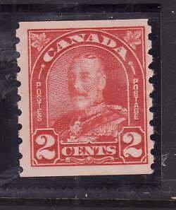 Canada-Sc#181- id5-Unused NH og 2c KGV Arch/Leaf coil-1930-31-