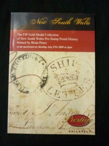 PRESTIGE AUCTION CATALOGUE 2009 NEW SOUTH WALES 'BRIAN PEACE' COLLECTION