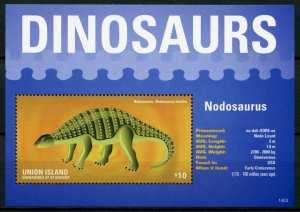 Union Island Gren St Vincent Dinosaurs Stamps 2014 MNH Nodosaurus 1v S/S II