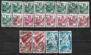 COLLECTION LOT OF 20 GERMANY  WURTTEMBERG 1948+ STAMPS CLEARANCE CV+ $20