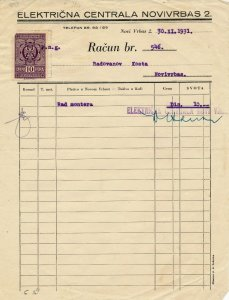 SERBIA 1931 NICE CLEAN INVOICE WITH 10 PARA TAX STAMP