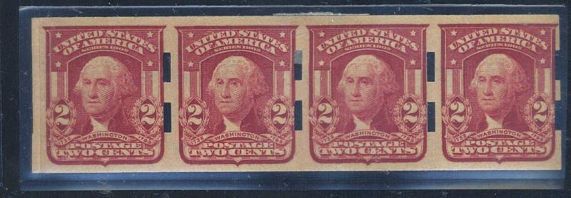 320A MINT Schermack Type 3 Strip of 4 VF OG LH Cat$75