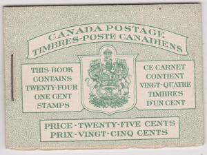 Canada USC #BK32d Bilingual Booklet - F-NH