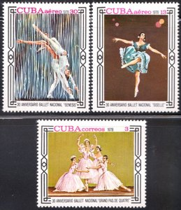 1978 Cuba Stamps National Ballet Alicia Alonso Complete Set MNH