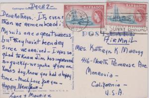 Barbados 5c QEII Harbor Police (2) 1957 Barbados, G.P.O. Spend The Winter In ...