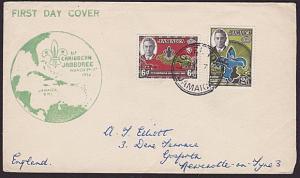 JAMAICA 1952 Scout Jamboree FDC ex LIONEL TOWN..............................5042