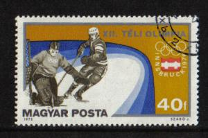 Hungary  1975  used  winter Olympic games 40fi. ice hockey #