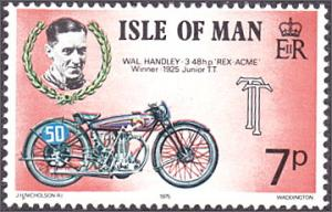 Isle of Man # 67 mnh ~ 7p Motorcycle and Race Driver