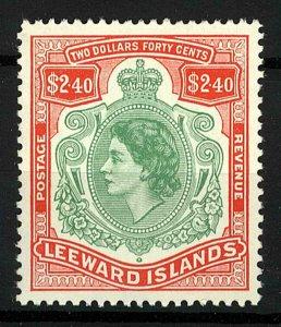 Leeward islands 1954 QEII $2.40 sg139 Mint (1v) Stamp