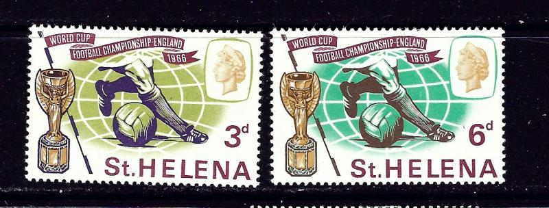 St Helena 188-89 MH 1966 World Cup Soccer  #2
