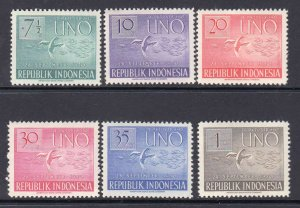 INDONESIA 362-367 OG NH U/M VF SOUND SET $43 SCV