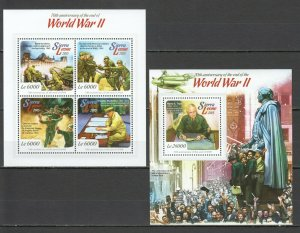 ST521 2015 SIERRA LEONE HISTORY WAR WWII THE END OF WAR KB+BL MNH STAMPS