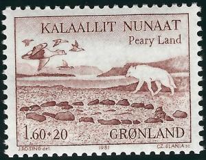 Greenland Slania Semi Postal B9 MNH VF...High Quality bargain!