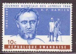 Rwanda   #143  MH  (1966)