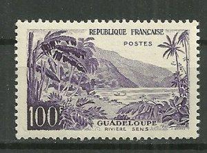 1959 France Sc909 100F Guadeloupe River Sens MH