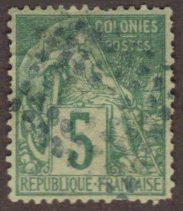 French Colonies #49 used - 5c green