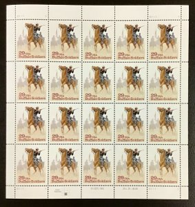 2818   Buffalo Soldiers  Black History  Lot of 5 sheets. FV $29  1994