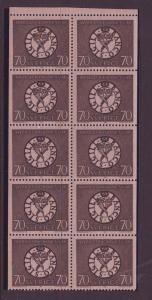 Sweden Sc779a 1968 70 ore National Bank stamp bklt pane NH