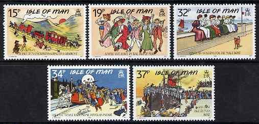 Isle of Man 1990 IOM Edwardian Postcards set of 5 unmount...