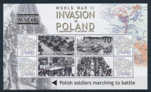 [81158] Ghana 2009 Second World war Invasion of Poland Sheet MNH
