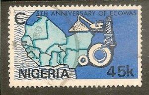Nigeria   Scott 398   Map   Used