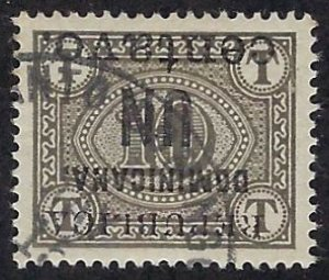 DOMINICAN REPUBLIC 170a used (inverted ovprt) SCV $10.50 BIN $4.20 NUMERICAL