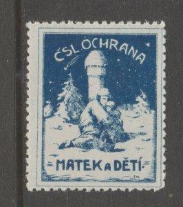 CZ Czech Rep cinderella stamp 2-14-21 scarce as mnh gum
