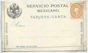 MEXICO 10c lettercard 1886 unused.........................................58708