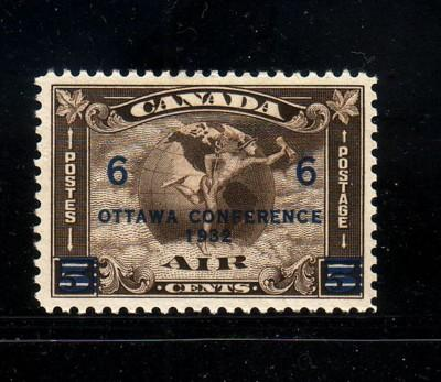 Canada Sc C4 1932  6c on 5c Ottawa Conference airmail stamp mint