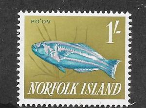 Norfolk Islands #55  1' Po'ov   (MNH)  CV$2.00