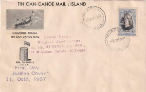 1938, Niuafoou, Tonga, 1st Day Jubilee Cover, See Remark (41468)