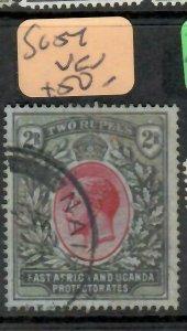 EAST AFRICA & UGANDA (P1405B) KGV  2R   SG 54   VFU