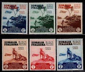 Italian Somalia Scott C1-C6 MH* 1934 airmail stamp set
