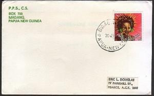 PAPUA NEW GUINEA 1980 cover BWAGAOIA cds......................74187