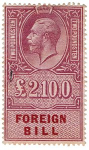(I.B) George V Revenue : Foreign Bill £2 10/-