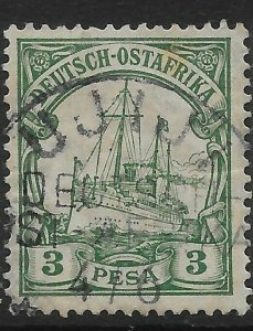 GERMAN EAST AFRICA SG16 1901 3p GREEN USED
