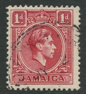 Jamaica -Scott 117 - King George VI -1938 - FU - Single 1p Stamp